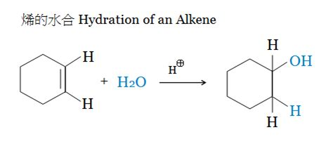 hydration of cyclohexene 反應分類 加成反應 addition reaction 加百列的部落格 udn部落格