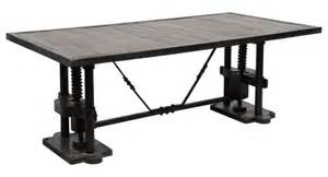 Industrial Dining Room Table Madera Industrial Dining Table Zin Home