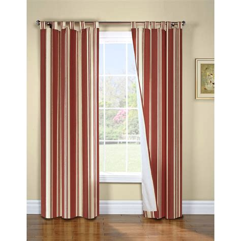Insulated Kitchen Curtains Thermalogic Weathermate Broad Stripe Curtains 80x72 Quot Tab Top Insulated Lined In Terracotta