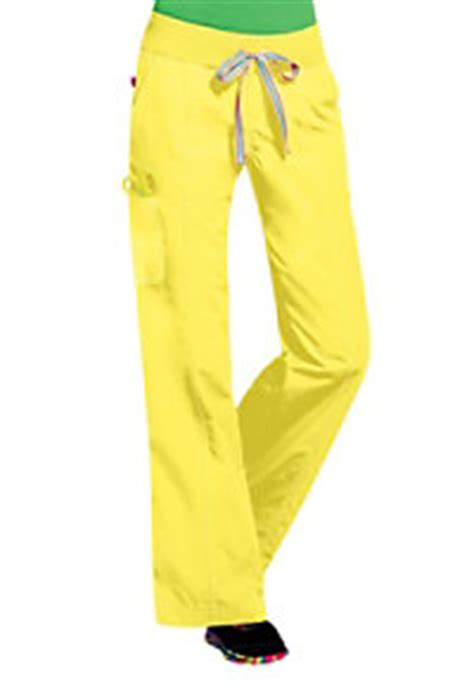 peaches comfort scrub pants peaches comfort neon knit waist cargo scrub pants main image