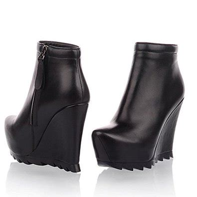 Genuine Leather Wedge Ankle Boots womens leather wedge ankle boots coltford boots
