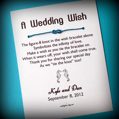 Wedding Wishes Knot by Wedding A Wedding Wish With Seahorses Wish