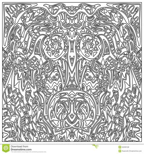 Zentangle Pattern Tribe | tribal coloring zentangle stock illustration image 55330128