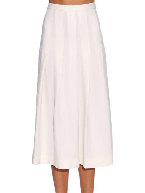 of pearl dune wool piqu 233 pleated midi skirt in