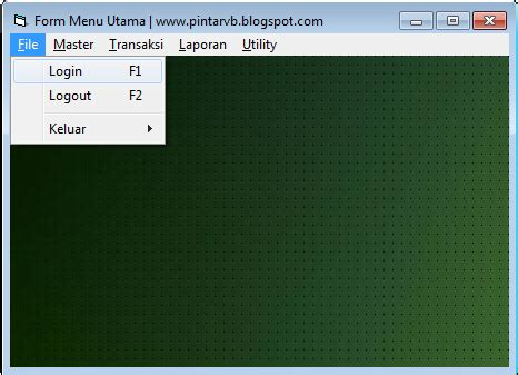 membuat menu dropdown di visual basic membuat menu utama program vb 6 pintar vb tutorial