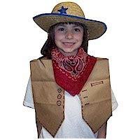 western vest craft crayola com paper bag cowgirl vest