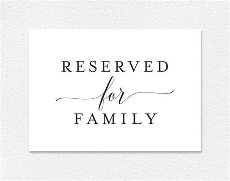 reservedseating card template ceremony the 25 best reserved wedding signs ideas on