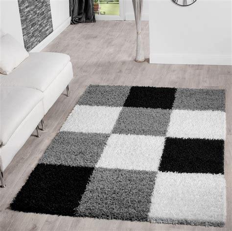 teppich shaggy moderner hochflor teppich karo muster shaggy zottel