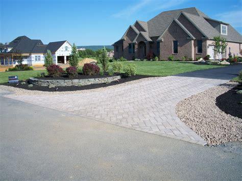 Driveway Entrance Landscaping Ideas The Of Weavers Landscape Company Paver Driveway Entrance