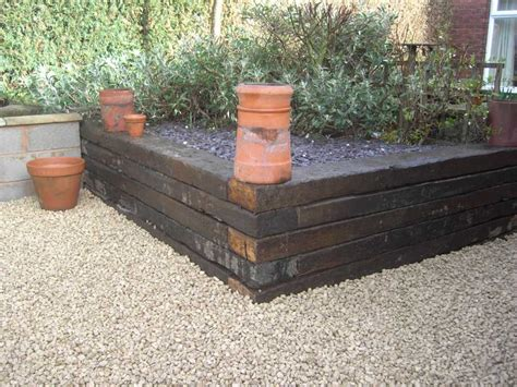What Wood Are Railway Sleepers Made Of by Geoffrey Wood S Raised Beds With Railway Sleepers