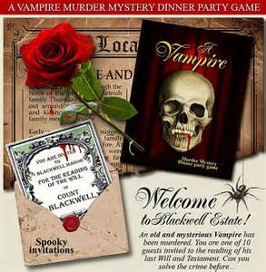 vampire party murder mystery dinner party by