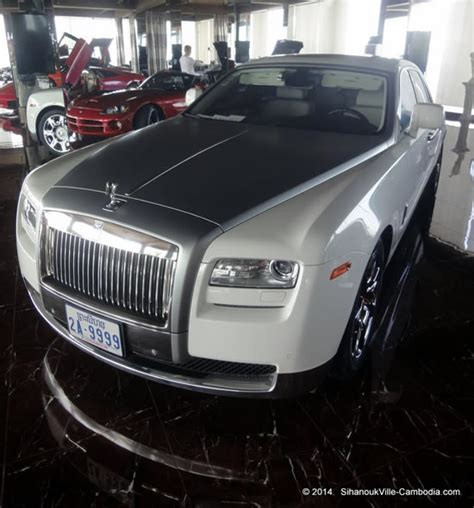 roll royce cambodia classic car showroom in sihanoukville cambodia