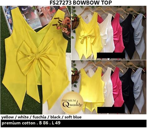 Top Atasan Hongkong Ready Premium Quality bowbow top supplier baju bangkok korea dan hongkong