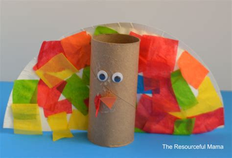 turkey craft with toilet paper roll toilet paper roll turkey kid craft the resourceful