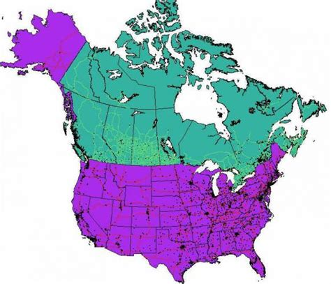 map of usa and canada images free map of usa and canada holidaymapq