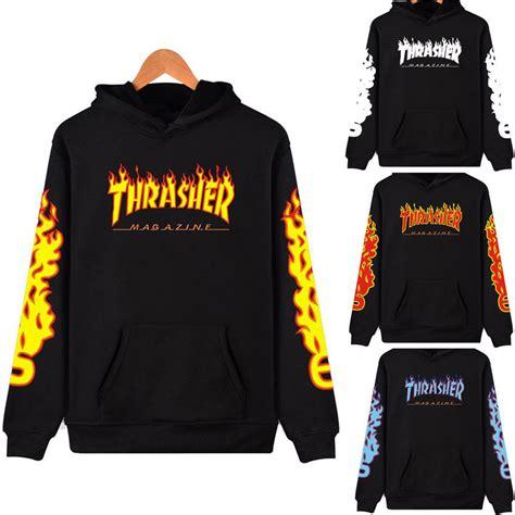 Sweater Hoodie Thrasher Jaspirow Shopping 1 hoodie sweater skateboard thrasher sweatshirts pullover coats t shirts ebay