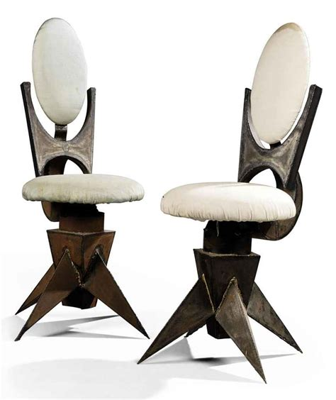 A Pair Of Tom Dixon Welded Metal Swivel Desk Chairs Who Invented The Swivel Chair