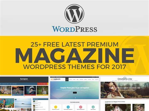 25 Free Latest Premium Magazine Wordpress Themes For 2017 25 Free Premium Responsive Magazine