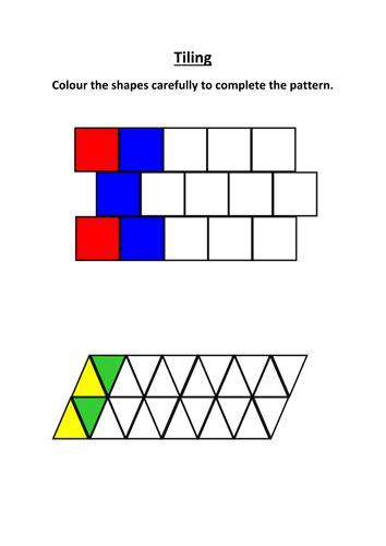 teaching pattern in art ks1 tiling worksheet by lynreb teaching resources tes