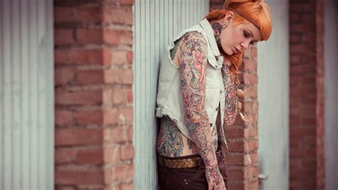 cute tattoo girl wallpaper cute girl tattoo tattoos women emo glam wallpaper