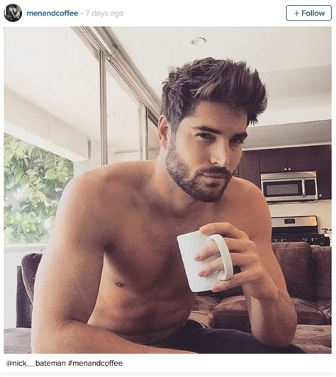 Just in time for your afternoon dose of caffeine sexy men   strong coffee = instagram magic
