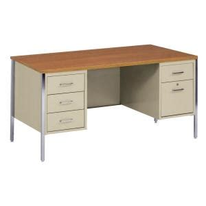 sandusky 400 series pedestal steel desk in putty