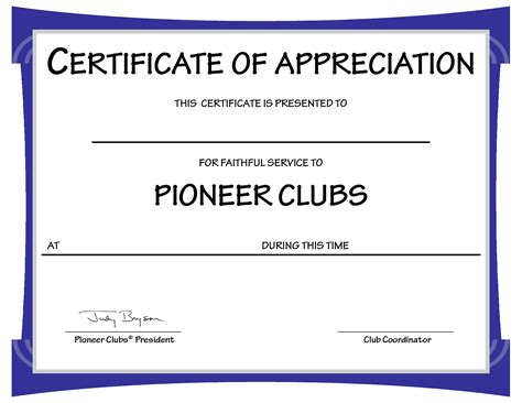 Certificate Of Appreciation Templates For Word best photos of fillable certificate template microsoft