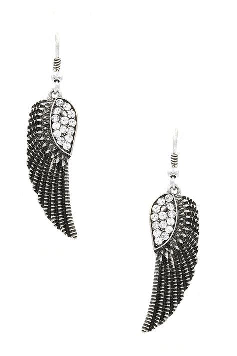 Wing Earrings wing drop earrings