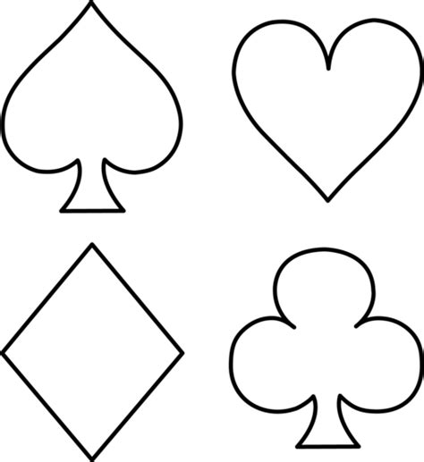 printable card suits free playing cards images cliparts co