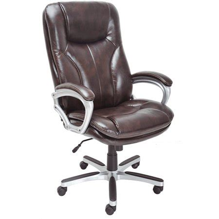 executive big tall puresoft office chair roasted chestnut walmartcom