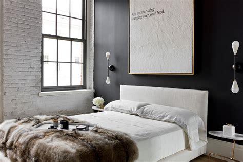 dark accent wall in small bedroom industrial bedroom ideas photos trendy inspirations