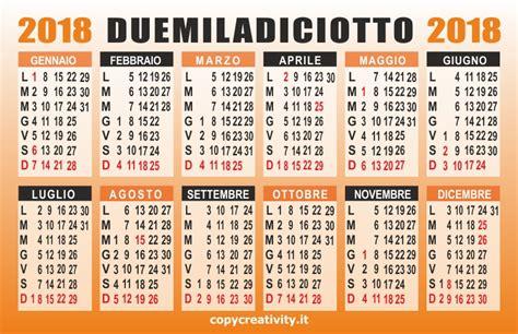 Calendario Annuale 2018 Calendario 2018 Vettoriale Copy Creativity
