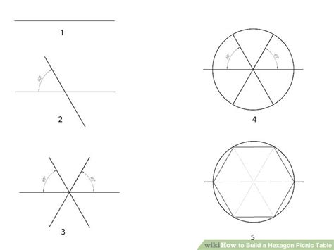build  hexagon picnic table  pictures wikihow