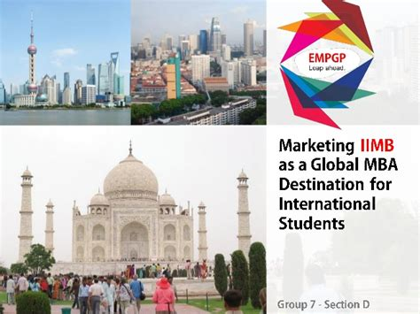 Marketing For Mba Students by Marketing Iimb As A Global Mba Destination For