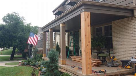 Cedar Porch Post cedar porch columns rails furniture