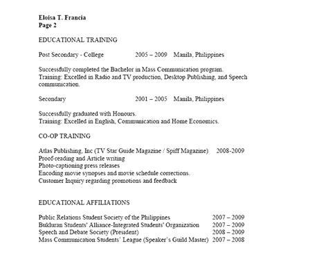 Resume Sle Sa Tagalog halimbawa ng isang term paper sa