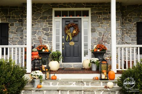 fall   front porch stonegable