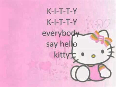 theme song of hello kitty lyrics hello kitty theme song with lyrics 2 youtube