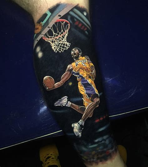 lakers tattoo bryant los angeles lakers realistic nba sleeve