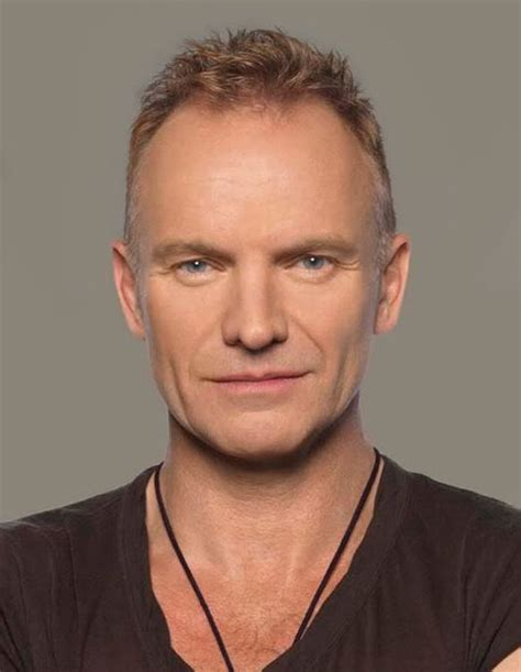 Sting Has A Receding Hairline So He Tends To Wear His Hair Short | sting has a receding hairline so he tends to wear his
