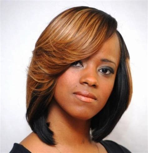 black hair weaves swing bob with weave short hairstyle 2013