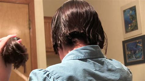 how to cut your own ponytail hair styles cutting my own hair from a ponytail youtube