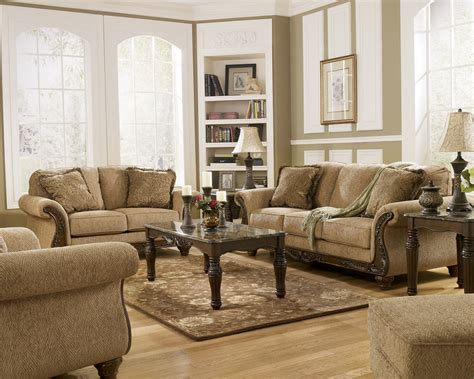 Wood Living Room Set Cambridge Traditional Living Room Furniture Set Wood Accent