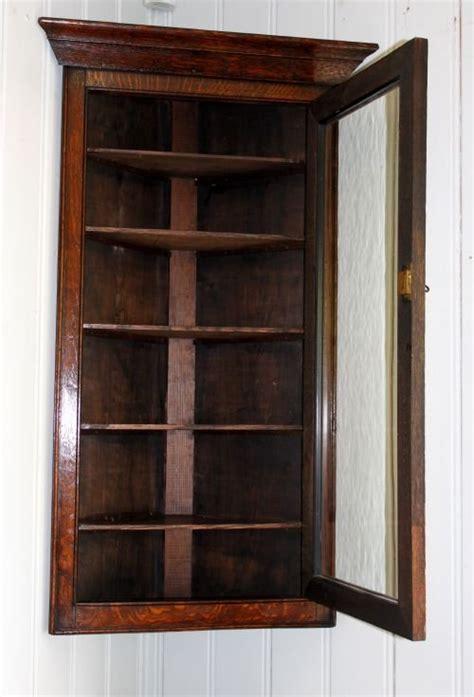 small solid oak corner wall cabinet 168562
