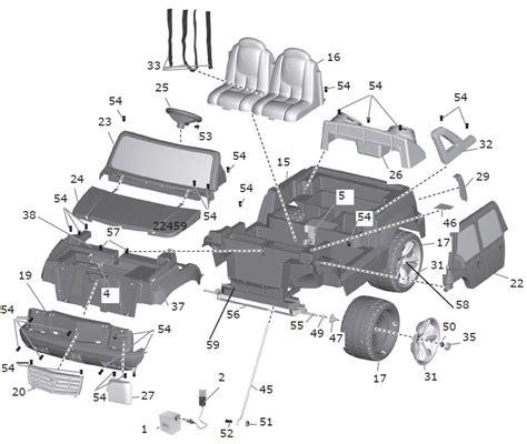 cadillac escalade parts diagram power wheels cadillac escalade parts