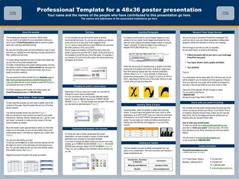Poster Presentation Template 48x36 Ppt Professional Template For A 48x36 Poster Presentation Powerpoint Presentation Id 2496499