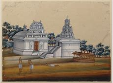 One of eight paintings of unidentified Hindu temples in ... Hindu Name