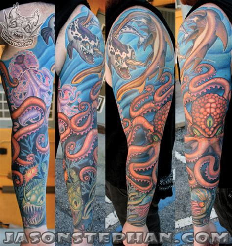 underwater sleeve tattoo designs underwater sleeve