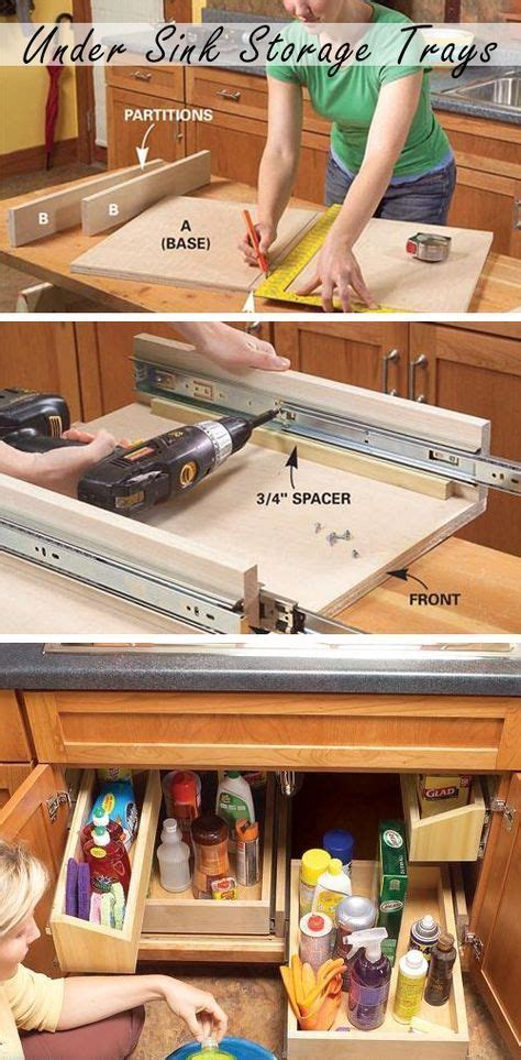 home decor inspiration diy pull out kitchen sink storage