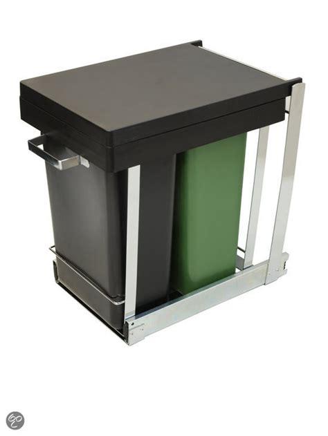 keukenkast afvalbak bol keukenkast inbouw afvalbak duo 2 x 8 l koken